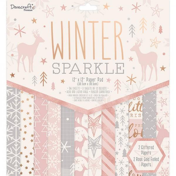 "Stack Premium 12x12"" Dovecraft Winter Sparkle"