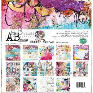 """Stack 12x12"""" AB Studio Glitter Stories"""