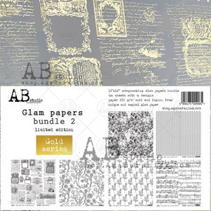 """Stack 12x12"""" AB Studio Glam Papers Gold 2"""