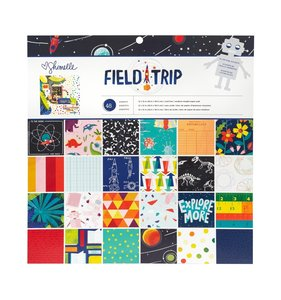 """Stack 12""""x12"""" con foil plateado Field Trip"""
