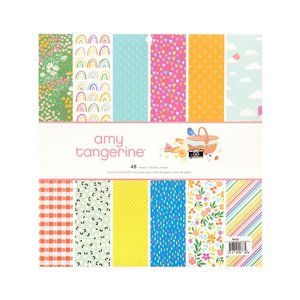 """Stack 12""""x12"""" Amy Tangerine Picnic in the park"""