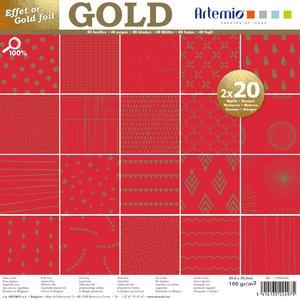 Stack especial 12x12 Básicos Rouge Gold