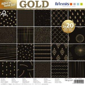 Stack especial 12x12 Básicos Noir Gold