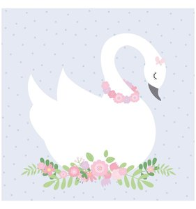 "Lovely Swan Stack 12""x12"""