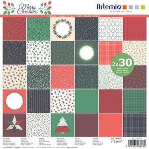 "Stack 12x12"" Artemio Merry Christmas"