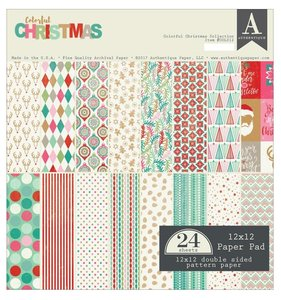 "Stack 12x12"" Authentique Colorful Christmas"