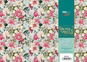 Paper Press The Bloomsbury Red FLowers para encuadernar