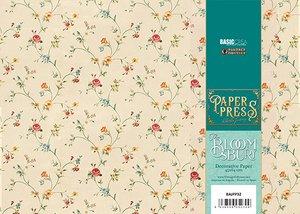 Paper Press The Bloomsbury Cream Flowers para encuadernar