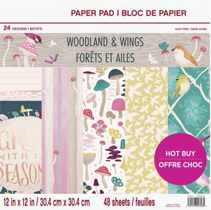 """Stack Premium 12x12"""" Craft Smith Woodland & Wings"""
