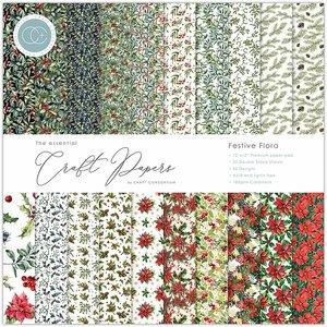 """Stack 12x12"""" Craft Consortium The Essential Festive Flora"""