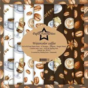 Pad papeles Paper Favourites Watercolor Coffee
