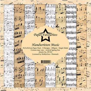 Pad papeles Paper Favourites Handwritten Music