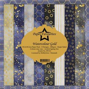 Pad papeles Paper Favourites Watercolour Gold