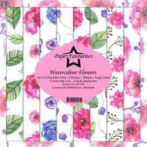 Pad papeles Paper Favourites Watercolour Flowers