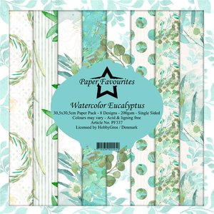 Pad papeles Paper Favourites Watercolour Eucalyptus