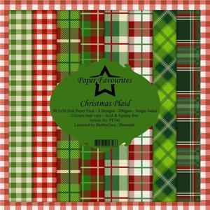 Pad papeles Paper Favourites Christmas Plaid