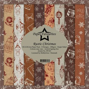 Pad papeles Paper Favourites Rustic Christmas