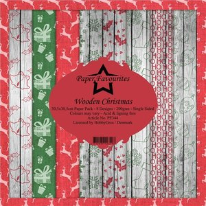 Pad papeles Paper Favourites Wooden Christmas
