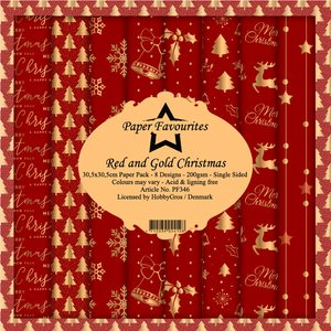 Pad papeles Paper Favourites Red & Gold Christmas