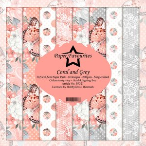 Pad papeles Paper Favourites Coral & Grey