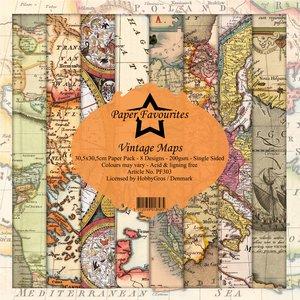 Pad papeles Paper Favourites Vintage Maps