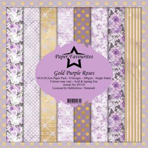 Pad papeles Paper Favourites Gold Purple Roses