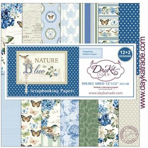 "Stack 12x12"" Dayka Nature in Blue"