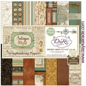 "Stack 12x12"" Dayka Antique Style"