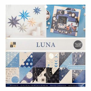 """Luna Stack Premium 12x12"""" con foil Gold"""