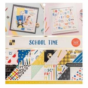 """School Time Stack Premium 12x12"""" con foil Gold"""