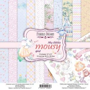 """Pad Fabrika Decoru 12x12"""" My Little Mousy Girl"""