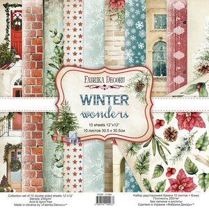 "Pad Fabrika Decoru 12x12"" Winter Wonders"