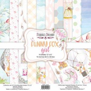 "Pad Fabrika Decoru 12x12"" Funny Fox Girl"