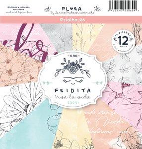 "Pad de papeles 12x12"" Fridita Flora"