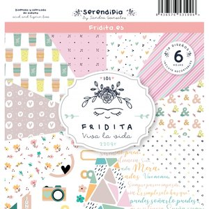 """Pad de papeles 12x12"""" Fridita Serendipia"""