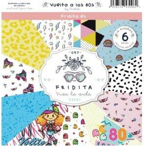 """Pad de papeles 12x12"""" Fridita Vuelta a los 80's"""