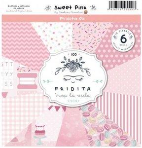 """Pad de papeles 12x12"""" Fridita Sweet Pink"""