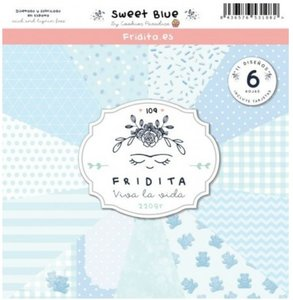 "Pad de papeles 12x12"" Fridita Sweet Blue"