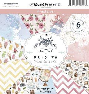 "Pad de papeles 12x12"" Fridita Wanderlust"
