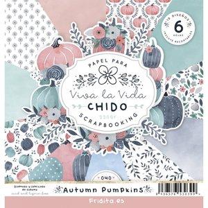 "Pad de papeles 12x12"" Fridita Autumn Pumpkins"