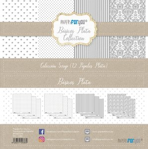 "Pad 12x12"" Papers For You Básicos con Foil Plata"