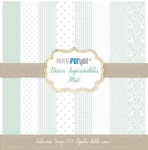 """Pad 12x12"""" Papers For You Básicos Imprescindibles Mint"""