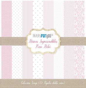 "Pad 12x12"" Papers For You Básicos Imprescindibles Rosa Bebé"