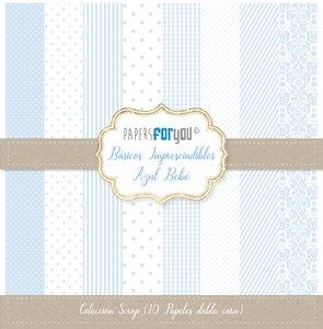 "Pad 12x12"" Papers For You Básicos Imprescindibles Azul Bebé"