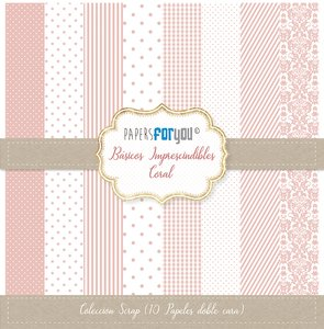 """Pad 12x12"""" Papers For You Básicos Imprescindibles Coral"""
