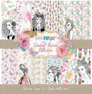 """Pad 12x12"""" Papers For You Carnival Flowers"""