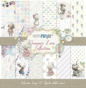 "Pad 12x12"" Papers For You Summer Love"