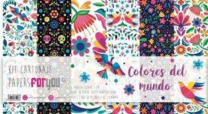 Pad 6 papeles de cartonaje PFY Colores del Mundo