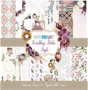 "Pad 12x12"" Papers For You Boho Wedding Style"