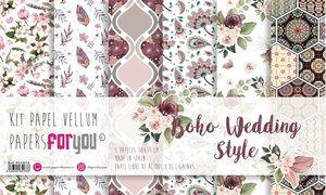 "Pad 12x12"" Vellums Papers For You Boho Wedding Style 6 pcs"
